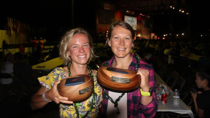 Ruth Purbook (Left)) and Alison Wilson (Right), Umeke winners at Kona 2017
