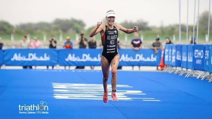 ITU World Triathlon Abu Dhabi 2018 Rachel Klamer