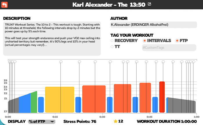 Karl Alexander - The 13:50 (10 to 2) - TRI247 Workout Series on Zwift