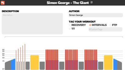 Simon George Zwift TRI247 Workout Series The Giant